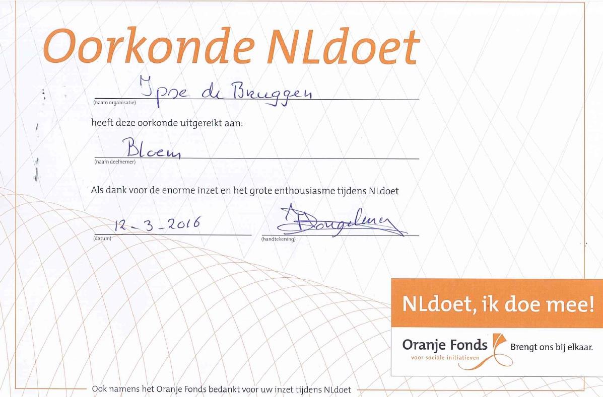 Oorkonde van Nldoet vanuit Ipse de Bruggen
